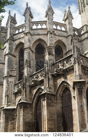 Beziers (Languedoc-Roussillon France) - The medieval cathedral in gothic style