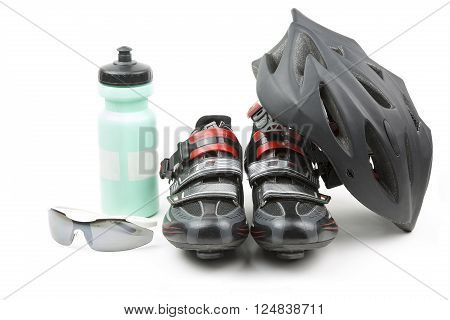 set of racing accessories for sport cycling
