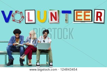 Volunteer Voluntary Support Assist Aid Help Concept