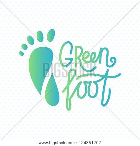 Logo of center of healthy feet. Human footprint sign icon. Barefoot symbol. Foot silhouette. Business abstract logo. Vector illustration