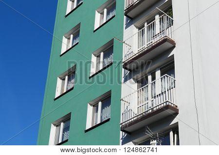 Concrete Apartment Building
