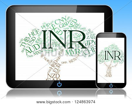 Inr Currency Means Worldwide Trading And Exchange