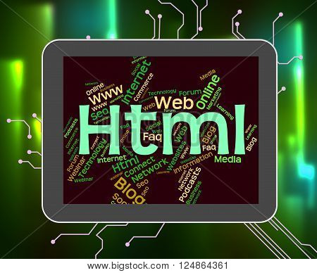 Html Word Indicates World Wide Web And Code