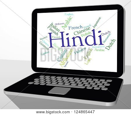 Hindi Language Represents Speech Word And Wordcloud
