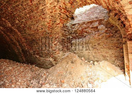 Inside Of Old And Dangerous Building