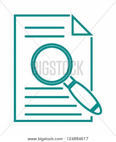 Search icon find zoom and search icon optical tool. Find search icon magnification and file searching icon. Search in file sign icon find document symbol magnifying glass vector illustration.
