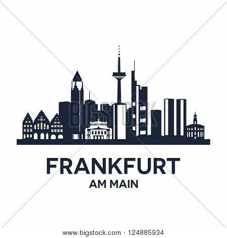 Abstract skyline of city Frankfurt am Main, vector illustration