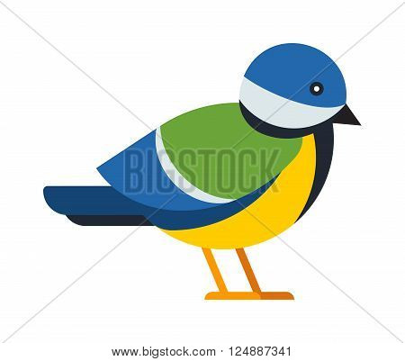Cartoon bullfinch and winter bullfinch bird. Season bullfinch holiday christmas wild bird. Flat colorful winter nature bird. Bullfinch colorful nature winter bird pyrrhula holiday wild animal vector.