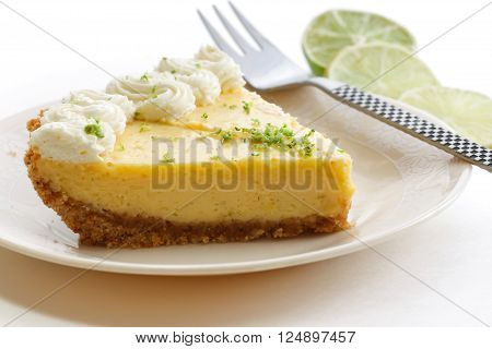 American food - Slice of key lime pie dessert