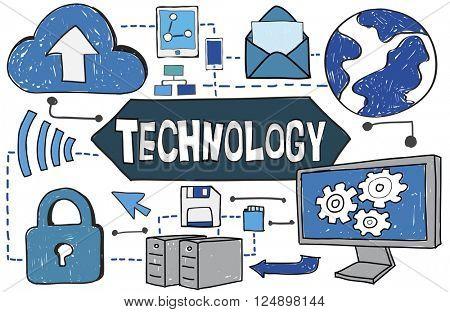 Tehnology Tech Digital Evolution Internet Data Concept