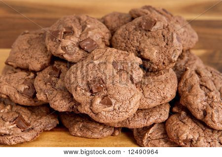 Batch Of Double Chocolate Cookies