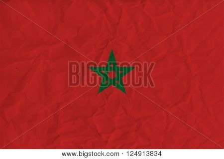 Vector image of the Morocco  paper flag