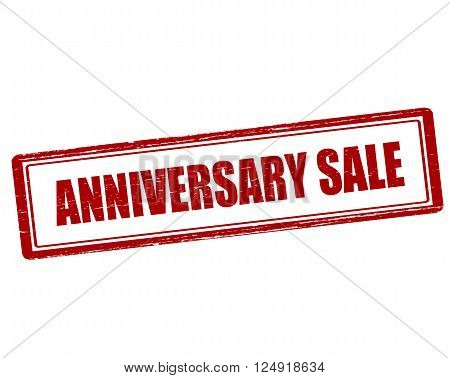 Rubber stamp with text anniversary sale inside vector illustration