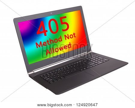 HTTP Status code on a laptop screen - 405 Method Not Allowed poster