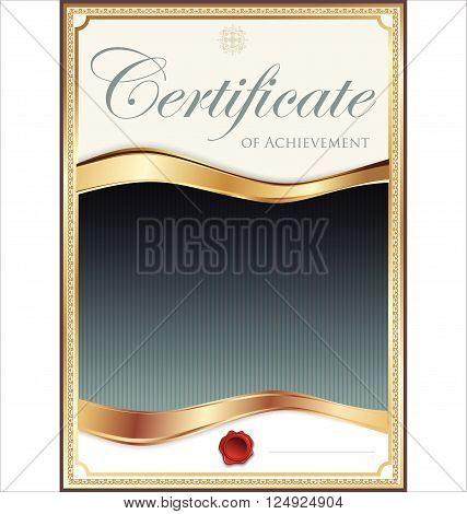 Golden Certificate Template 3.eps