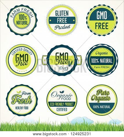 Organic Food Banners Collection.eps