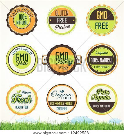 Organic Food Banners Collection 2.eps
