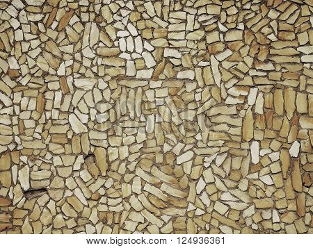 Texture of old stony wall from nature material, broken marl stone , traditional building materials.