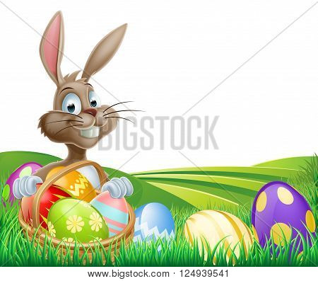 Easter Bunny And Hamper