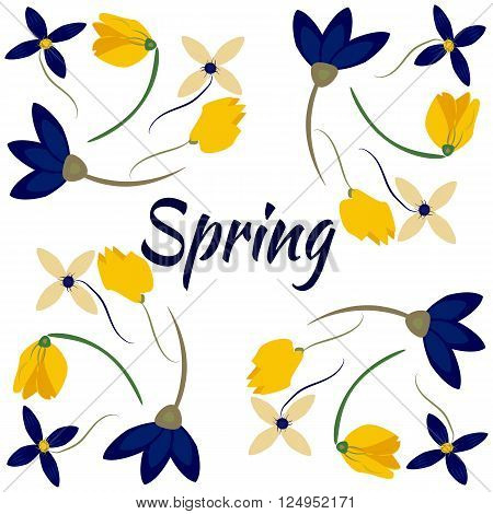 Spring sales background with flowersfor shopping. Can also be used as a decorative card or banner.