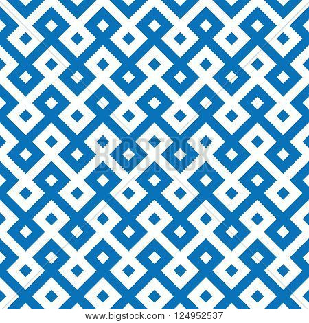 monochromatic ethnic seamless background. chequered textures in blue and white colors. vector illustration