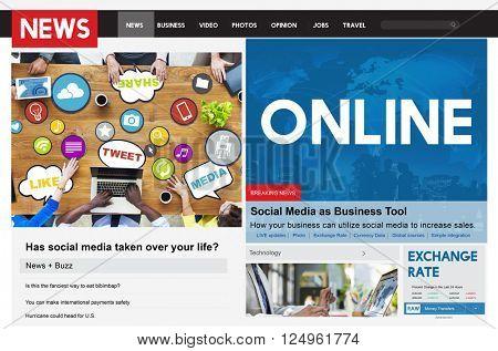 Online Internet Digital Connection Networking Concept