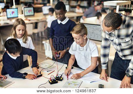 Education School Student Circuit Electricity Transistor Concept