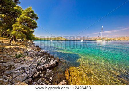Telascica bay nature park sailing destination on Dugi Otok island Dalmatia Croatia ** Note: Visible grain at 100%, best at smaller sizes