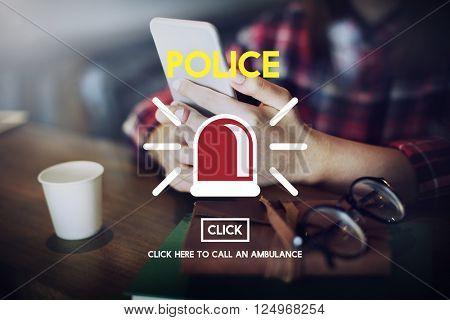 Police Force Cop Municipal Surveillance Officer Law Concept