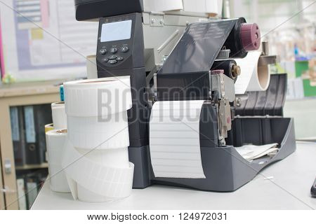 bar code label printer, office equipment object.