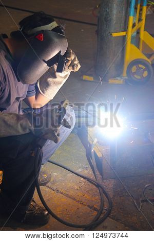 Lighting Of Welding Worker