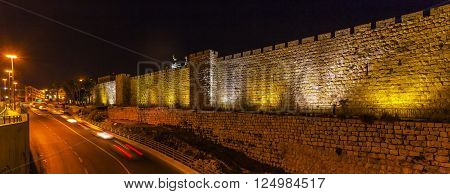 Walls Of Ancient City, Jerusalem, Israel