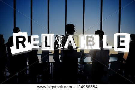 Reliable Trustworthy Dependable Responsible Respectable Concept