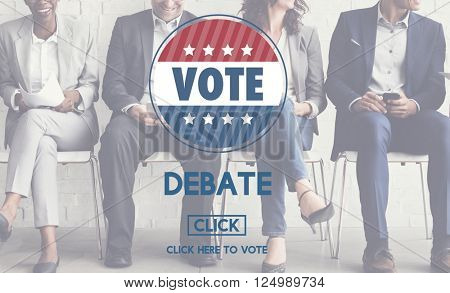 Debate Conversation Depute Talking Concept