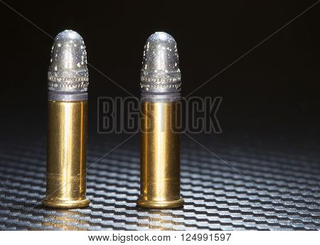 Rim fire ammuntion old enough there is oxidation on the bullets