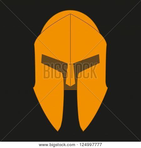 Corinthian bronze orange helmet on a black background