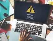 Error Mistake Online Reminder Beware Alert Concept poster