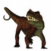 Prestosuchus on White 3D illustration - Prestosuchus was a carnivorous archosaur dinosaur that lived in the Triassic Period of Brazil. poster