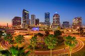 Tampa, Florida, USA downtown skyline. poster