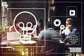 Ideas Creative Creativity Critical Thinking Innovation Concept poster