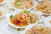 seafood jambalaya with shrimp scallops oyster and lobster meat poster