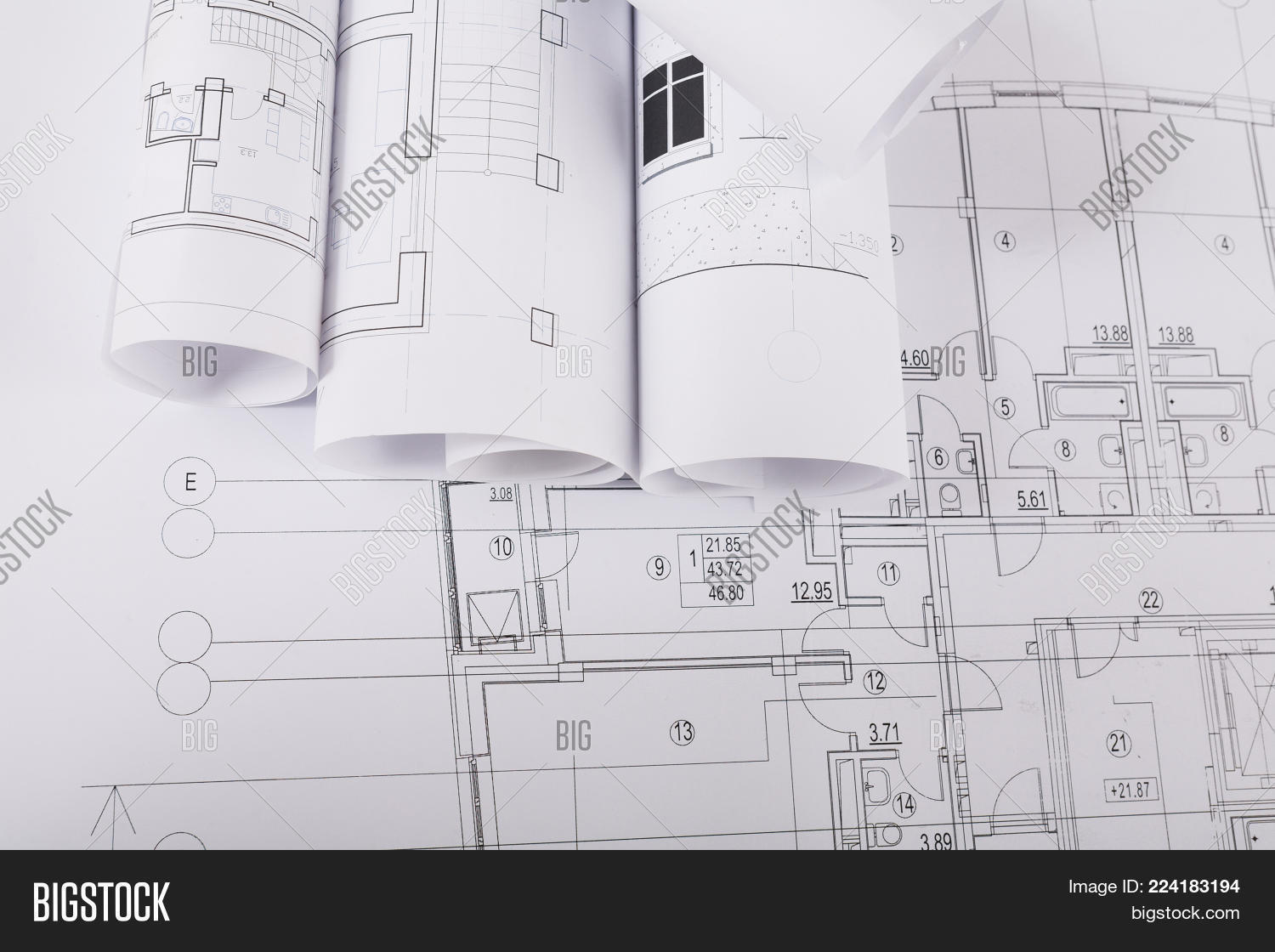 Plans Building Image Photo Free Trial Bigstock