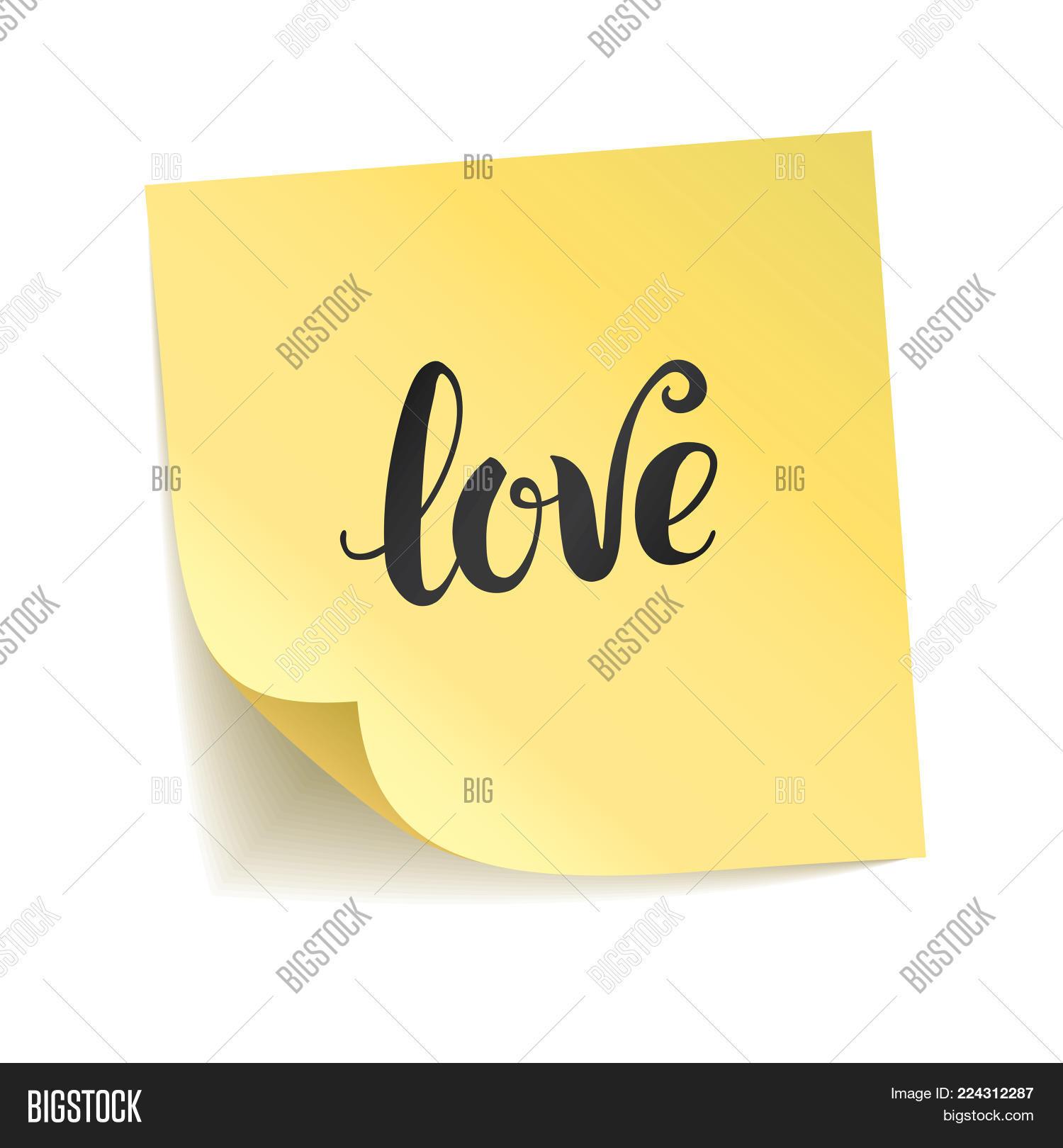 Note Yellow Sticker Image Photo Free Trial Bigstock