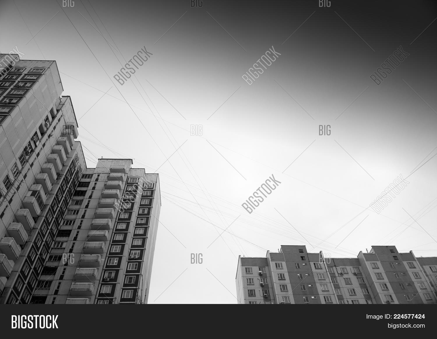 Black White Moscow Image Photo Free Trial Bigstock