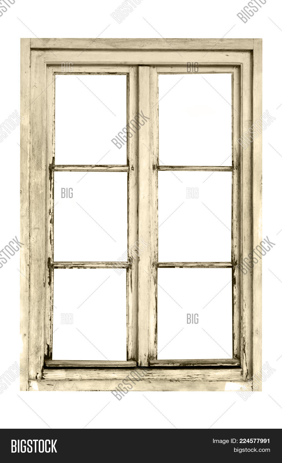 Old Wooden Window Six Image & Photo (Free Trial) | Bigstock