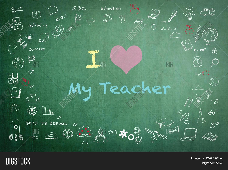 Love My Teacher Image Photo Free Trial Bigstock