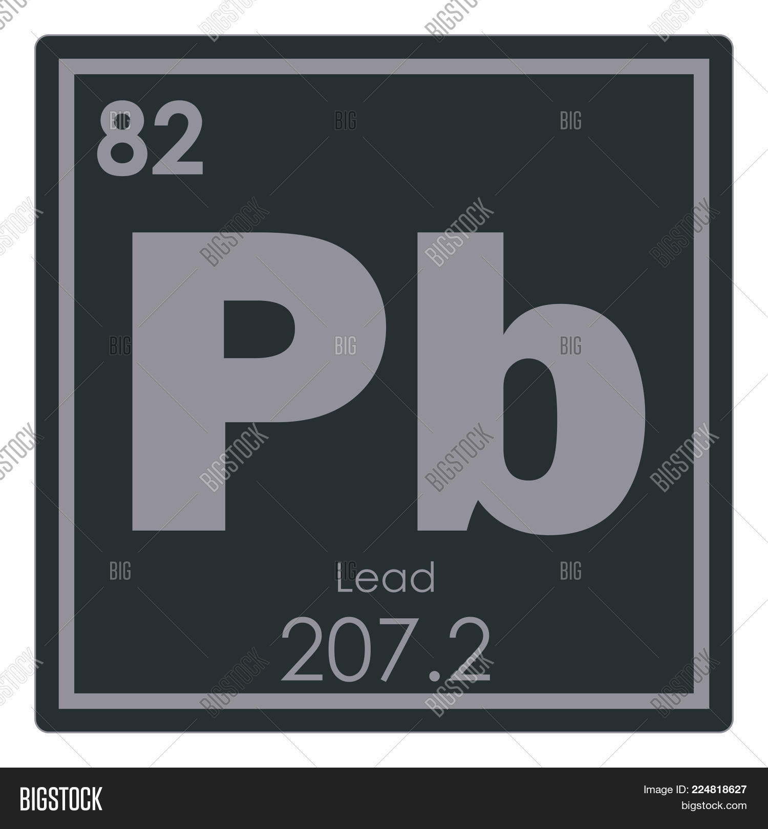 Lead Chemical Element Image Photo Free Trial Bigstock