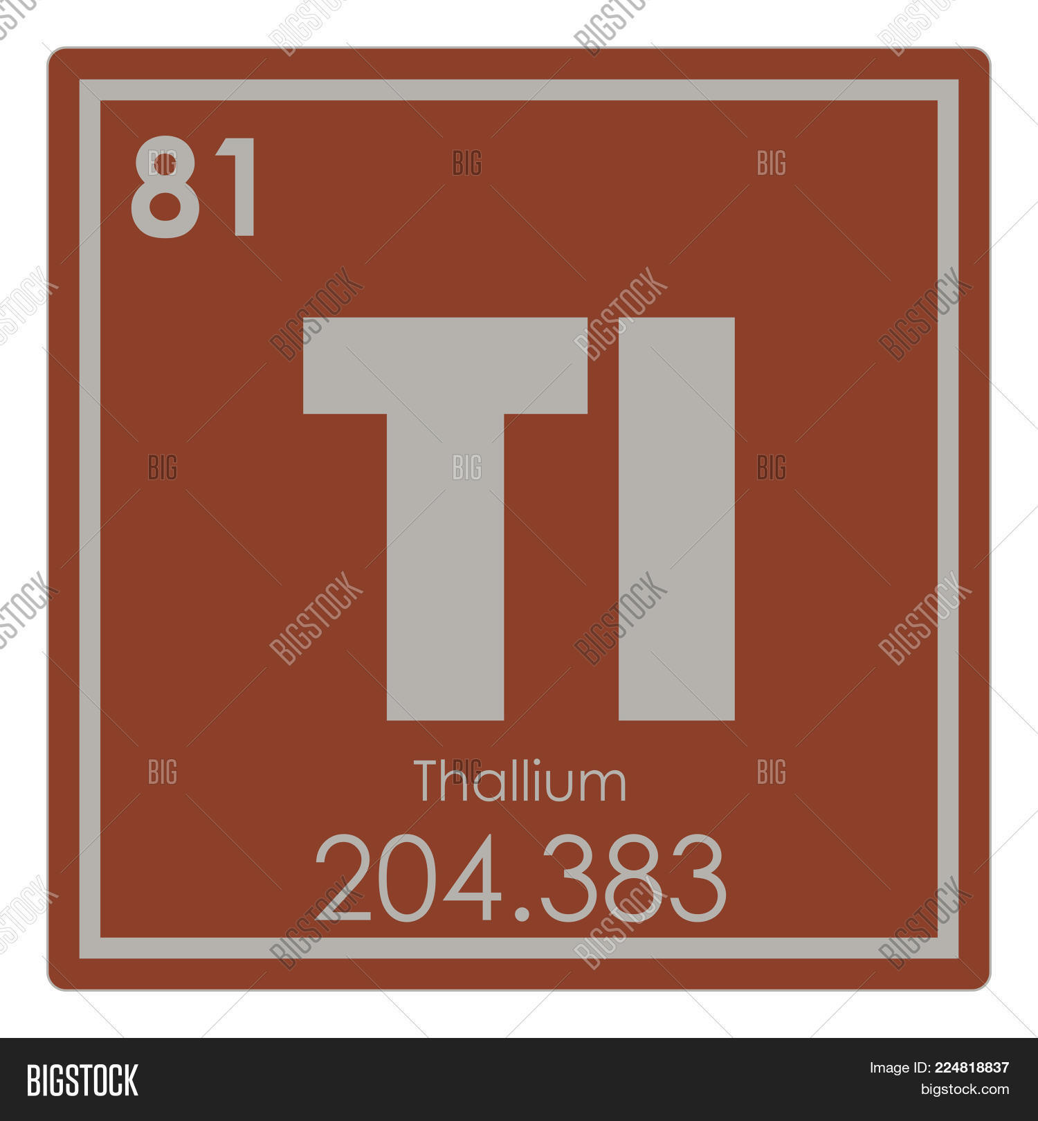 Thallium Chemical Image Photo Free Trial Bigstock