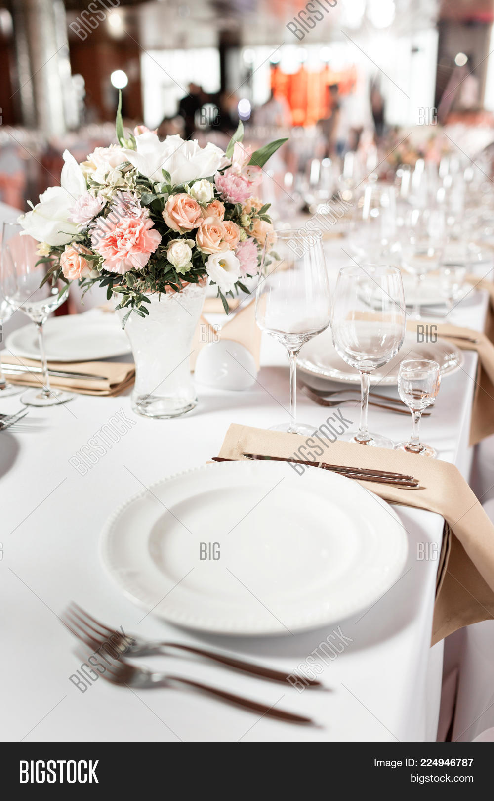 Tables Set Event Party Image Photo Free Trial Bigstock