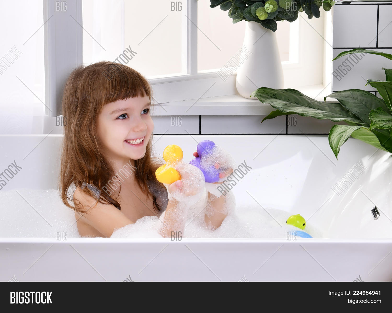 Happy Little Baby Girl Image & Photo (Free Trial) | Bigstock